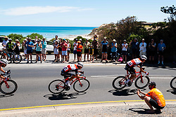 January 20, 2019 - Adelaide, South Australia, Australia - Richie Porte, (Centre), Team Trek Segafredo, Stage 6 of the Tour Down Under, Australia on the 20 of January 2019  (Credit Image: © Gary Francis/ZUMA Wire)