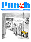 """""""But that's what I'm trying to tell you - the television has been switched off (Punch, front cover, 8 June 1983)"""