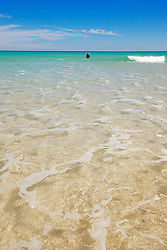 Swimming from a sandbank near Willie Creek, north of Broome