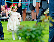 14-7-2014 - Solliden - King Carl-Gustav , queen Silvia , crown princess victoria , prince Daniel and princess Estelle  at the 37 the birthday celebration  of crown princess Victoria victoriaday   at Solliden palace. COPYRIGHT ROBIN UTRECHT