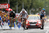 Sykkel , 19. juli 2011 , TOUR DE FRANCESTAGE 16 - Saint-Paul-Trois Châteaux > Gap (162,5km) -<br />   51 Thor Hushovd (Garmin - Cervelo) - 114 Edvald Boasson Hagen (Team Sky) - 55 Ryder Hesjedal (Garmin - Cervelo)<br /> Norway only