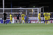 Peterborough United striker Tom Nichols (21) equalises for Peterborough United 1-1 during the EFL Cup match between Peterborough United and AFC Wimbledon at ABAX Stadium, Peterborough, England on 9 August 2016. Photo by Stuart Butcher.
