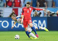 2016.06.20 Saint-Etienne<br /> Pilka nozna Euro 2016<br /> mecz grupy C Slowacja - Anglia<br /> N/z Peter Pekarik Adam Lallana<br /> Foto Lukasz Laskowski / PressFocus<br /> <br /> 2016.06.20 Saint-Etienne<br /> Football UEFA Euro 2016 group C game between Slovaki and England<br /> Peter Pekarik Adam Lallana<br /> Credit: Lukasz Laskowski / PressFocus