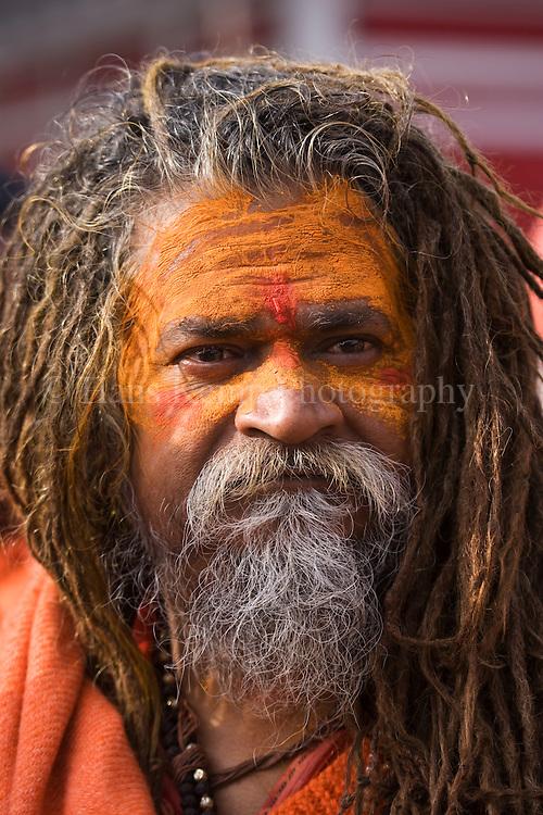 A Sadhu at the Khumb Mela in Haridwar, India 2010