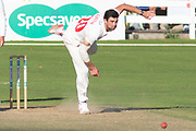 Ruaidhri Smith bowling during the Specsavers County Champ Div 2 match between Glamorgan County Cricket Club and Leicestershire County Cricket Club at the SWALEC Stadium, Cardiff, United Kingdom on 17 September 2019.