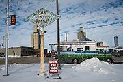 A protest bus is parked outside of a venue where Senator and 2016 Republican presidential candidate, Ted Cruz (R-TX), is scheduled to speak to potential supporters during a campaign event at the North Star Restaurant in Fenton, IA on January 29, 2016. Cruz is in Iowa campaigning in the final days before the Iowa Caucus.<br />