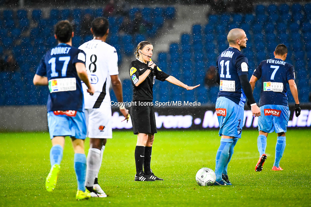 Stephanie FRAPPART / Ludovic GAMBOA  - 12.12.2014 - Le Havre / Laval - 17eme journee de Ligue 2 <br /> Photo : Fred Porcu / Icon Sport