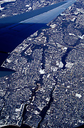 Aerial view of New York from a plane, New York, USA