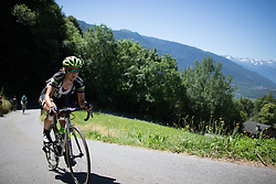 Leah Kirchmann (CAN) of Liv-Plantur Cycling Team rides up the Mortirolo during the Giro Rosa 2016 - Stage 5. A 77.5 km road race from Grosio to Tirano, Italy on July 6th 2016.