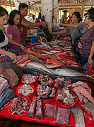 Fish for sale at Tomohon extreme market, north Sulawesi, Indonesia.