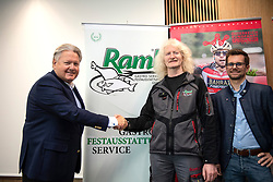 10.05.2019, Linz, AUT, Österreich Radrundfahrt 2019, Streckenpräsentation, im Bild v.l. Dir. Harald Mayer, (ÖRV Präsident), Karl Raml, Stefan Pauzenberger (OÖ, Tourismus) // during the Stage Presentation of the Tour of Austria 2019. Linz, Austria on 2019/05/10. EXPA Pictures © 2019, PhotoCredit: EXPA/ Reinhard Eisenbauer