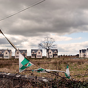 An abandoned housing estate in Co. Longford, Ireland. There are currently over 600 unfinished housing estates across the country.