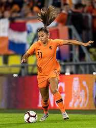 Lieke Martens of The Netherlands women during the FIFA Women's World Cup 2019 play off first leg qualifying match between The Netherlands and Denmark at the Rat Verlegh stadium on October 05, 2018 in Breda, The Netherlands