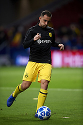 November 6, 2018 - Madrid, Spain - Paco Alcacer of Borussia Dortmund during the Group A match of the UEFA Champions League between Atletico de Madrid and Borussia Dortmund at Wanda Metropolitano Stadium, Madrid on November 06 of 2018. (Credit Image: © Jose Breton/NurPhoto via ZUMA Press)