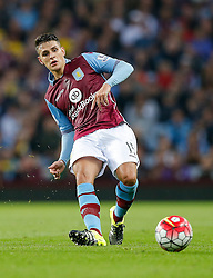 Ashley Westwood of Aston Villa in action - Mandatory byline: Rogan Thomson/JMP - 07966 386802 - 14/08/2015 - FOOTBALL - Villa Park Stadium - Birmingham, England - Aston Villa v Manchester United - Barclays Premier League.