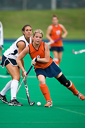 Virginia Cavaliers M/B Abby Taylor (8)..The #10 ranked Virginia Cavaliers fell to the #7 ranked Penn State Nittany Lions 3-1 at the University Hall Turf Field in Charlottesville, VA on August 26, 2007.