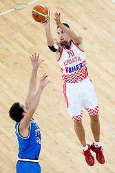 Roko Leni Ukic #10 of Croatia during basketball match between National teams of Croatia and Italy in 2nd Round at Day 11 of Eurobasket 2013 on September 14, 2013 in SRC Stozice, Ljubljana, Slovenia. (Photo By Urban Urbanc / Sportida)