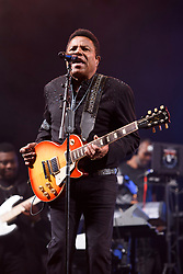 Tito Jackson performing with The Jacksons during the Glastonbury Festival at Worthy Farm in Pilton, Somerset. Picture date: Saturday June 24th 2017. Photo credit should read: Matt Crossick/ EMPICS Entertainment.
