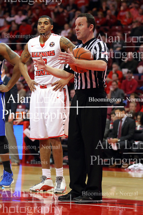 17 February 2016: Brad Gaston during the Illinois State Redbirds v Indiana State Sycamores at Redbird Arena in Normal Illinois (Photo by Alan Look)