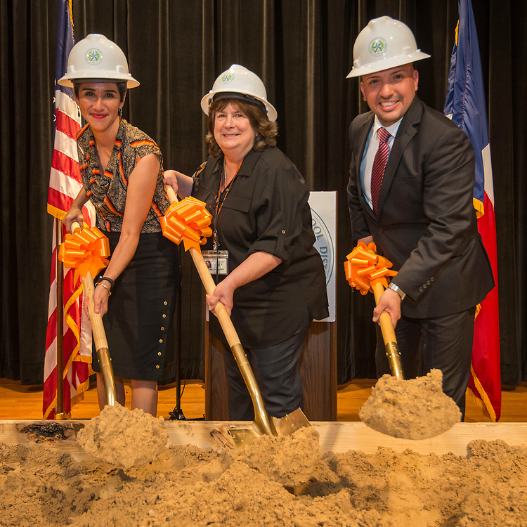 Groundbreaking ceremony at Scarborough High School, March 29, 2017.