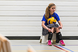 17-03-2018 NED: Prima Donna Kaas Huizen - VC Sneek, Huizen<br /> PDK verliest kansloos met 3-0 van Sneek / ballenmeisje, item volleybal, mikasa
