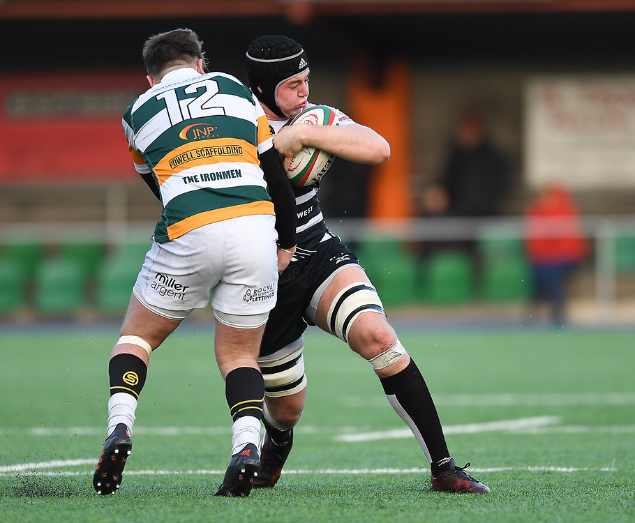 Pontypridds' Sean Moore<br /> <br /> Photographer Mike Jones/Replay Images<br /> <br /> Principality Premiership Merthyr v Pontypridd - Saturday 17th February 2018 - The Wern Merthyr Tydfil<br /> <br /> World Copyright © Replay Images . All rights reserved. info@replayimages.co.uk - http://replayimages.co.uk