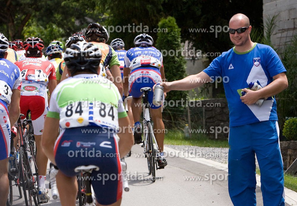 Slovenian National Team at Gabrje at 4th stage of Tour de Slovenie 2009 from Sentjernej to Novo mesto, 153 km, on June 21 2009, Slovenia. (Photo by Vid Ponikvar / Sportida)