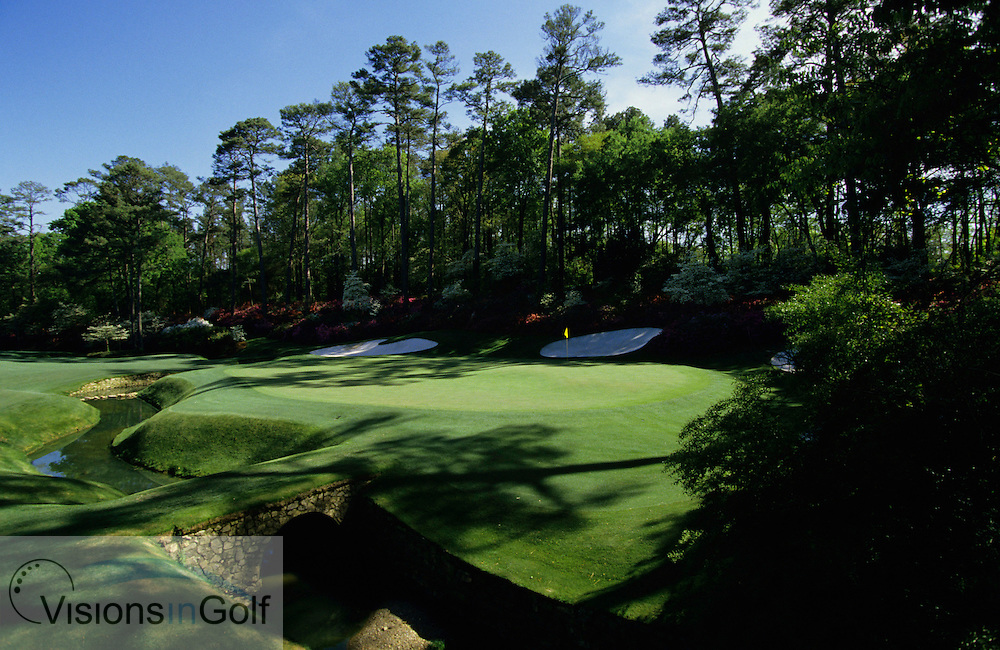 13th green at Augusta National Golf Club , photographed on practice day<br /> 940411 / Augusta, USA / Photo &copy; Visions In Golf / Mark Newcombe / Masters at Augusta National Golf Club