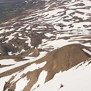 Berglind Aðalsteinsdóttir skiing mt.1124m. in Flateyjardalur, Iceland.