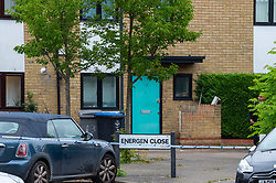 © Licensed to London News Pictures. 04/06/2020. London, UK. A street sign on Energen Close with police tape marking a cordon. An investigation has been launched after three adults and a child were shot in Brent. Police were called at 21:45 BST on Wednesday 03/06/2020 to reports of shots fired in Energen Close, Harlesden. Metropolitan Police Service officers attended along with London Ambulance Service and found four people suffering gunshot injuries. All four were taken to hospital. Photo credit: Peter Manning/LNP