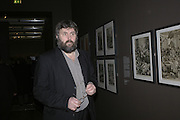 Steve Bell, Hogarth private view and dinner. Tate Britain. London. 5 February 2007.  -DO NOT ARCHIVE-© Copyright Photograph by Dafydd Jones. 248 Clapham Rd. London SW9 0PZ. Tel 0207 820 0771. www.dafjones.com.
