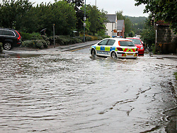 South Yorkshire Police leaving the Car Park at Ecclesfield Sub Divisional HQ Station Rd Ecclesfield Sheffield.15th June 2007.Image COPYRIGHT Paul David Drabble.