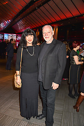 28 January 2020 - Polly Samson and David Gilmour at the Costa Book Awards 2019 held at Quaglino's, 16 Bury Street, London.<br /> <br /> Photo by Dominic O'Neill/Desmond O'Neill Features Ltd.  +44(0)1306 731608  www.donfeatures.com