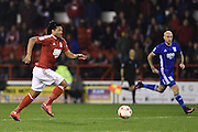 Nottingham Forest midfielder Hildeberto Pereira (17) goes on to score to put the Reds 2-1 during the EFL Sky Bet Championship match between Nottingham Forest and Birmingham City at the City Ground, Nottingham, England on 14 October 2016. Photo by Jon Hobley.