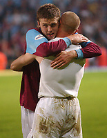 Photo: Daniel Hambury, Digitalsport<br /> NORWAY ONLY<br /> <br /> West Ham United V Ipswich Town<br /> Nationwide League  Division One Play Off Semi Final  Second Leg<br /> 18/5/2004.  <br /> <br /> West Ham's Michael Carrick celebrates victory