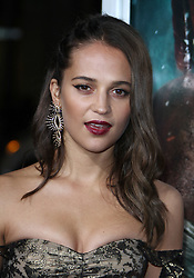 Tomb Raider Premiere held The TCL Chinese Theatre in Hollywood, California on 3/12/18. 12 Mar 2018 Pictured: Alicia Vikander. Photo credit: River / MEGA TheMegaAgency.com +1 888 505 6342
