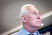Former adviser to Donald Trump, Roger Stone at a book signing event in Cleveland during the Republican National Convention in 2016.