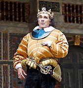 Richard III<br /> by William Shakespeare <br /> at Shakespeare's Globe Theatre, London, Great Britain <br /> <br /> press photocall <br /> 20th July 2012 <br /> <br /> Mark Rylance as Richard III<br /> <br /> Liam Brennan as Clarence<br /> <br /> Jethro Skinner as second Murderer<br /> <br /> Ben Thompson as Doreset <br /> <br /> Peter Hamilton Dyer as Brakenbury <br /> <br /> Roger Lloyd Pack as Duke of Buckingham <br /> <br /> Samuel Barnett as Queen Elizabeth <br /> <br /> Johnny Flynn as Lady Anne <br /> <br /> Photograph by Elliott Franks<br /> <br /> Richard, Duke of Gloucester, is determined that he should wear the crown of England. He has already despatched one king and that king&rsquo;s son; now all that stand in his way are two credulous brothers and two helpless nephews &ndash; the Princes in the Tower. And woe betide those &ndash; the women he wrongs, the henchmen he betrays &ndash; who dare to raise a voice against him.<br /> <br /> Monstrous, but theatrically electric, Richard is Shakespeare&rsquo;s most charismatic, self-delighting villain, revelling at every moment in his homicidal, hypocritical journey to absolute power.<br /> <br /> An all-male Original Practices production, Richard III will explore clothing, music, dance and settings possible in around 1593.