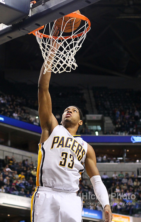 Feb. 11, 2011; Indianapolis, IN, USA; Indiana Pacers forward Danny Granger (33) goes up for a layup against the Minnesota Timberwolves at Conseco Fieldhouse. Mandatory credit: Michael Hickey-US PRESSWIRE
