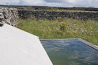 Water trough collecting rainwater for cattle Inis Oirr Island the Aran Islands County Galway Ireland