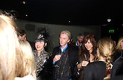 Isabella Blow, Philip Treacy and Camilla Guinness party given by Daphne Guinness for Christian Louboutin  after the opening of his new shopt.  Baglione Hotel. 16 March 2004.  ONE TIME USE ONLY - DO NOT ARCHIVE  © Copyright Photograph by Dafydd Jones 66 Stockwell Park Rd. London SW9 0DA Tel 020 7733 0108 www.dafjones.com