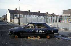 Abandoned and burnt out car UK