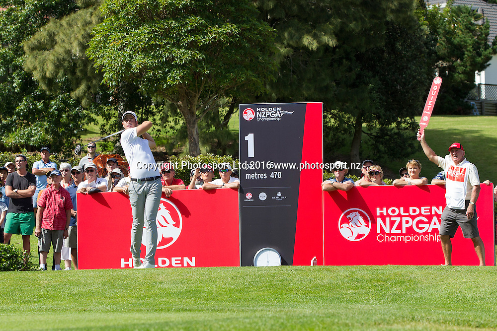 Nick Gillespie at the Holden NZPGA Day 3, PGA Golf Tournament, Remuera Golf Club, Auckland, New Zealand, Saturday, March 05, 2016. Copyright photo: David Rowland / www.photosport.nz