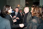 BELLA FREUD; DAVID JENKINS; BRIAN CLARKE; ZAHA HADID, Dinner to mark 50 years with Vogue for David Bailey, hosted by Alexandra Shulman. Claridge's. London. 11 May 2010