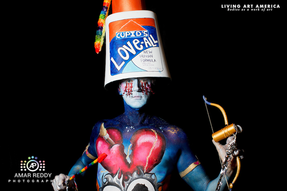 Living Art America::The Bodies Works of Art::The North American Body Painting Championship | A World Body-painting Association Sanctioned Event <br /> <br /> Artist: Tashi Honnery, Model:&nbsp;Christopher Ryan,<br /> Photographer: Amar Reddy<br /> <br /> www.livingartamerica.com<br /> www.AmarPhotography.com