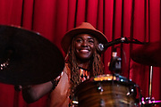 TIKYRA JACKSON of Southern Avenue performs at Hotel Cafe in Los Angeles, California.