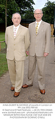 Artists GILBERT & GEORGE at a party in London on 9th July 2002.PBX 65