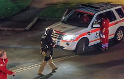 02.09.2016, Kaprun, AUT, Mann feuert in Kaprun mit Schrotflinte vom Balkon, im Bild Einsatz des Sondereinsatzkommandos Cobra. Ein offenbar alkoholisierte Mann hat am Freitagabend in Kaprun einen Cobra-Einsatz ausgelöst. Der Mann habe mit einer Schrotflinte immer wieder das Feuer vom Balkon seines Hauses eröffnet, teilte die Landespolizeidirektion Salzburg kurz vor Mitternacht auf APA-Anfrage mit. Dabei habe er zwei Fahrzeuge beschädigt, Menschen seien nicht verletzt worden // the special police force Cobra. 'A man has triggered a Cobra-use in Kaprun, on Friday night. The apparently intoxicated man had open fired with a shotgun repeatedly from the balcony of his home...' Informed the Police Directorate Salzburg, just before midnight. He had damaged two vehicles however no people where injured. EXPA Pictures © 2015, PhotoCredit: EXPA/ JFK
