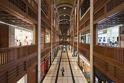 Interior of new World Trade Center Mall in Abu Dhabi United Arab Emirates
