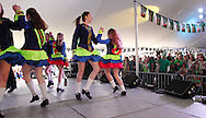 Members of the Celtic Academy of Irish Dance perform during the St. Patrick's Day celebration at the Dublin Pub in downtown Dayton, Saturday, March 17, 2012.